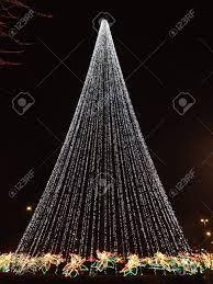 Cone Shaped Christmas Tree Lights Christmas Lights In Triangle Shape Of Christmas Tree
