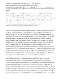 Business Systems Analyst Job Description Sample Sample Business