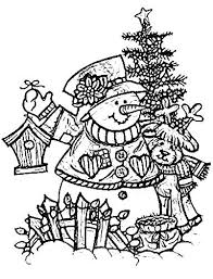 Snowmen Coloring Page Color Snowman Colouring Pages To Print