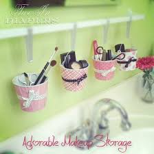 Our next project is from Liz Marie Blog. She created this Mason Jar Makeup  Organizer, and her tutorial really is easy to follow. makeup storage  organization