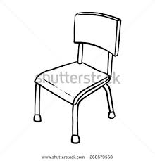 chairs clipart black and white. Fine Chairs Classroom Chair  Cartoon Vector And Illustration Black White Hand  Drawn Sketch For Chairs Clipart Black And White L