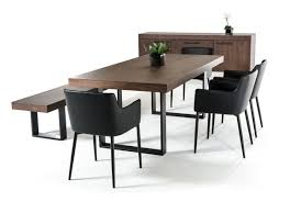 Modrest Lola Modern Walnut Dining Table - Walnut dining room furniture