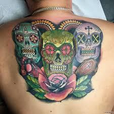 мексиканские черепа тату на спине у парня добавлено иван вишневский