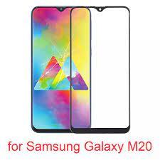 6 ″for Samsung Galaxy M20 dokunmatik panel için ön ekran dış cam Lens  Samsung Galaxy M20 yedek onarım parçaları|Mobile Phone Touch Panel