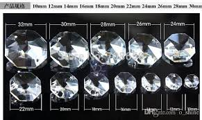 14mm clear octagon crystal glass beads chandelier chain parts in 1 or 2 holes chandelier crystal chandelier crysta chandelier chain parts clear crystal