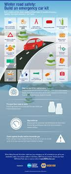 best infographics images info graphics  winter road safety build an emergency car kit infographic