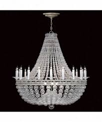 fine art lamps 751440 g5and cannal 23 light largd foyer chandelier in pale aged silber with