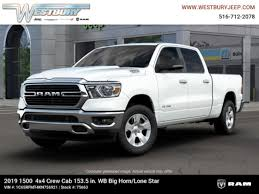 New 2019 Ram 1500 BIG HORN / LONE STAR CREW CAB 4X4 6'4 BOX For Sale in Jericho, Long Island | VIN: 1C6SRFMT4KN756921