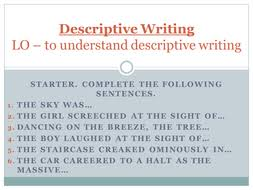 Descriptive Writing for Middle School Students by Gina Aaij on Prezi Pinterest It s Back to School time   teach your students to write a great descriptive  paragraph from the very beginning of the school year