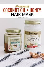 a diy coconut oil and honey hair mask that is so easy to make a