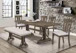 Quincy Dining Set With Bench Dining Room Furniture Sets