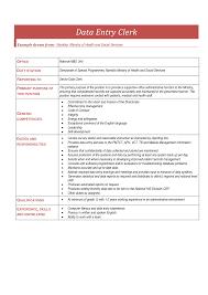 Data Entry Job Description Resume Xpertresumes Com