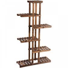 6 tier garden wooden shelf storage