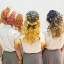大船高校六国祭ブリーチカラーヘアセット全部きてくださいました
