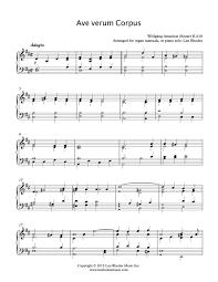 ave verum corpus sheet music mozart ave verum corpus arranged for piano or organ solo len