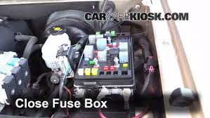 blown fuse check 2004 2007 buick rainier 2004 buick rainier cxl 6 replace cover secure the cover and test component