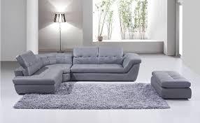 397 premium italian leather sectional grey