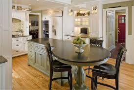 Kitchen Furnishing Furniture Traditional Kitchen Islands With White Stools And