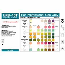 Urinalysis Reagent Strips Chart 100 Strips Urs 10t Urinalysis Reagent Strips 10 Parameters Urine Test Strip Leukocytes Nitrite Bilirubin Protein Ph Blood Etc
