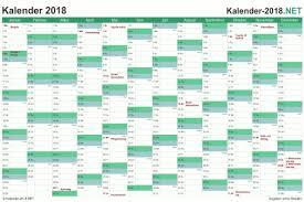 Excel Kalender Excel Kalender 2018 Kostenlos