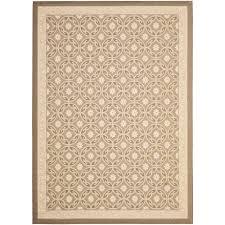 safavieh courtyard beige 8 ft x 11 ft indoor outdoor area rug