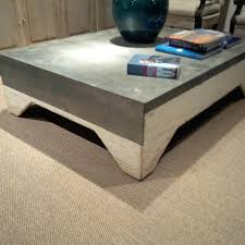 zinc top coffee table awesome pottery barn rectangular argo round