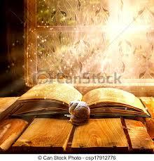 open old book magic snail csp17912776