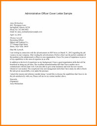 Administrative Cover Letter Example 021 Business Letter Administration Cover Sample Examples