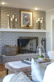 excellent painting brick white painted fireplace with find this pin and gray wood mantel grey walls