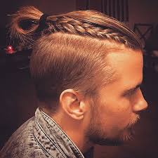 3 blonde top knot with braid