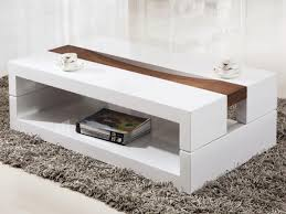 rectangular white round coffee table