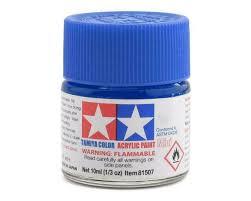 tamiya x23 clear blue acrylic paint jar
