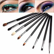 new 8pcs eyeshadow make up eye stylish professional bloomed blending brush set