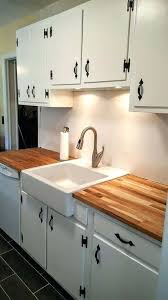 countertops ikea kitchen renovation on a budget in with butcher block refinished cabinets and hardware farmhouse