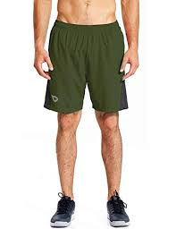 Baleaf Mens 7 Inches Quick Dry Workout Running Shorts Mesh Liner Zip Pockets