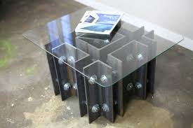 custom made modern industrial coffee or end table unique steel furniture