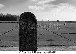 barbed wire fence concentration camp. Barbed Wire Fence In Concentration Camp - Csp4894613