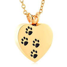 amazon paw print cremation jewelry cremated ashes jewelry pet ashes jewelry gold plated urns necklace 2018 newest pet cremation jewelry 20 inchain and
