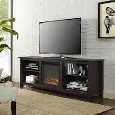 70 inch espresso fireplace tv stand