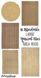 10 affordable large natural fiber area rugs at thehappyhousie com
