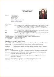 curriculum vitae free template curriculum vitae examples for graduate students student resume
