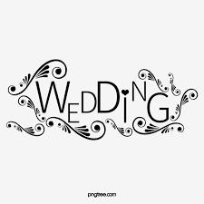 Wedding Title Black Wedding Title Wedding Clipart English Line Png