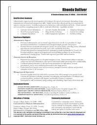 Resume Template For Administrative Assistant