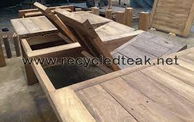 wood patio sets dining