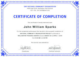 Completion Certificate Sample Certificate Of Completion Template 34 Free Word Pdf Psd Eps