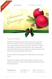 Christmas Email Greetings Template