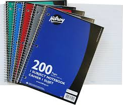 2 inch notebooks hilroy coil 1 subject wide ruled notebook 10 5 x 8 inches 3 hole