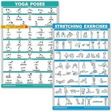 Details About Quickfit Yoga Poses And Stretching Exercise Poster Set Laminated 2 Chart Set