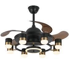 home smart mute modern chandelier fan