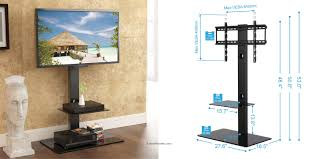 Black Color Tall And Narrow Swivel Tv Stand For 32 Inch Up To 65  Small Living Room Spaces Black Inch Tv Stand S46